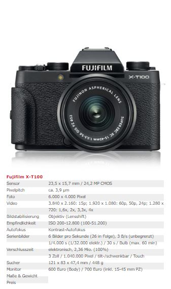 Fujifilm X - T100