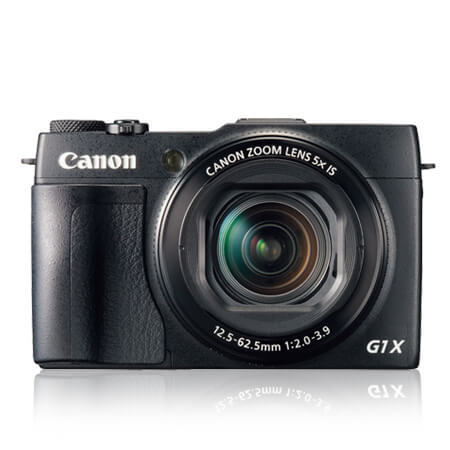 CANON POWERSHOT G1 X MARK II Objektiv: 2,0-3,9/24-120 mm KB Sensor: 13,1 MP / 1,5-Zoll-CMOS / 18,7 x 14 mm / 4,3 µm Pitch Auflösung Foto: 4.352 x 2.904 Pixel Auflösung Video: 1.920 x 1.080 Pixel / 30p 1.280 x 720 Pixel / 30p Empfindlichkeit: ISO 100-12.800 Autofokus: Kontrast-Autofokus Verschlusszeit: 1/4.000 s / 60 s Sucher: keiner Monitor: 3 Zoll / 1.040.000 Pixel / kippbar / Touch Maße & Gewichte: 116 x 74 x 66 mm / 558 g Preis: 850 Euro