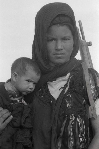 "Christine Spengler, ""Nouenna, fighter of the Polisario Front, Western Sahara, 1976"". © Christine Spengler, Paris"