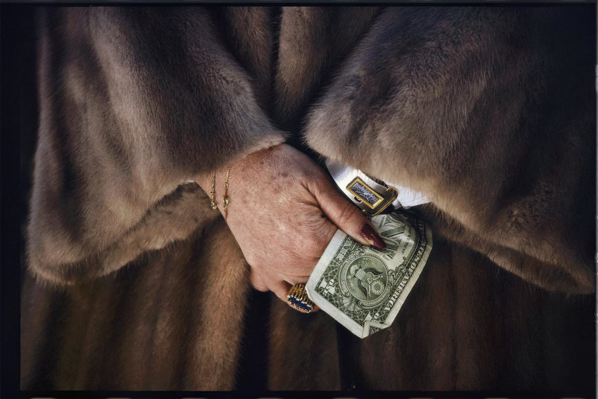 Volker Hinz Dame mit Dollarschein © Volker Hinz