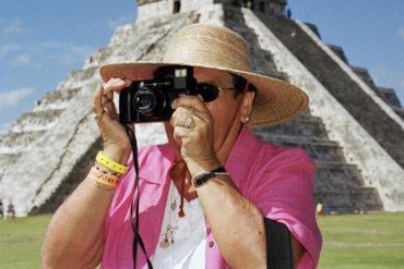 Touristin vorm Chichen Itza