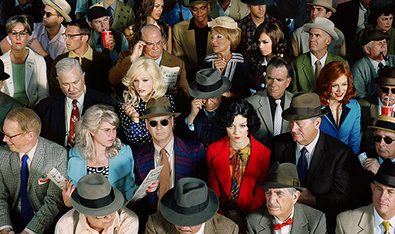 Crowd #1 (Stan Douglas), from the series Long Week-End, 2010 © Alex Prager. Courtesy Alex