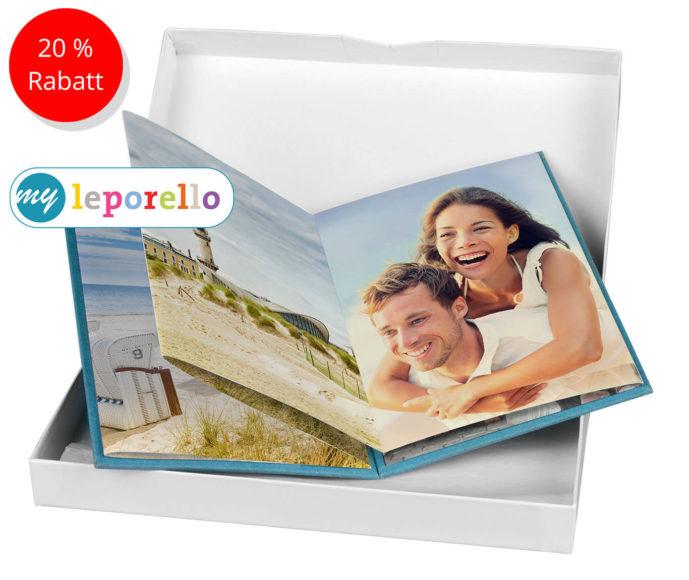 my Leporello Auf 11 x 16 cm (gefaltet) bietet dieses hochwertige Album Platz für zehn Fotografien.
