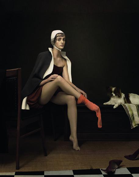 MODERN TIMES, 2017. Als Inspiration für ihre Porträtarbeit durchstöbert Justine Tjallinks regelmäßig die riesigen Sammlungen des Rijksmuseums in Amsterdam. Dabei legt sie viel Wert auf Werke, die für den heutigen Zeitgeist relevant sind. © Justine Tjallinks