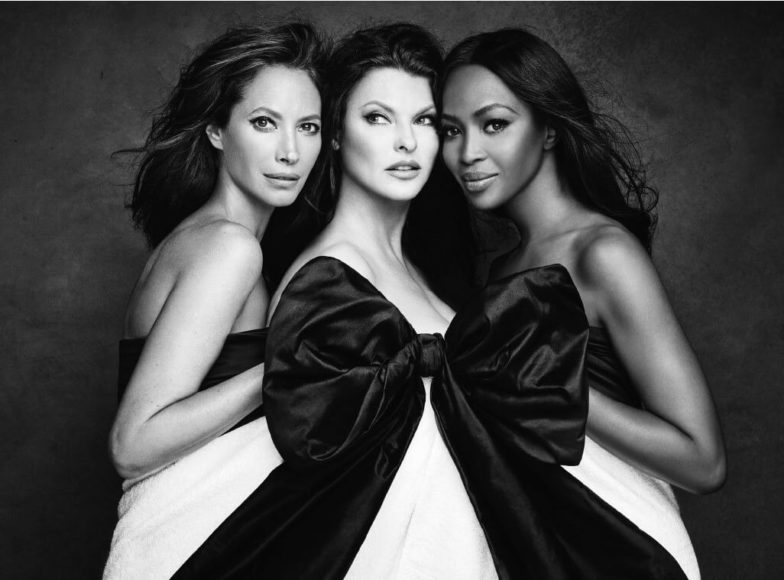 © Patrick Demarchelier, Christy, Linda, and Naomi, New York, 2016