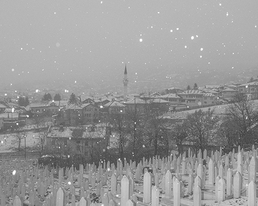 Friedhof. Aus der Serie: Men don't cry, Sarajevo, 2017 © Hannes Jung
