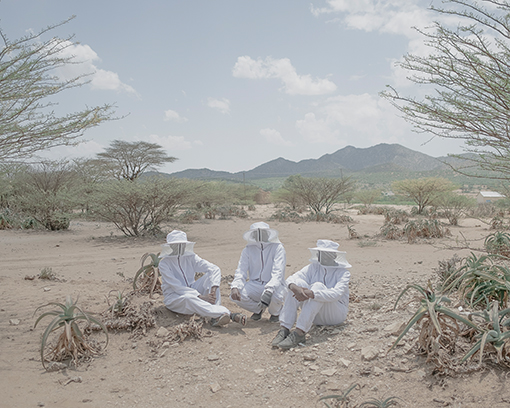 Hassan (23), Abdiadiqadir (20) and Mohamed (19) pose on the campus of the Faculty of Agriculture and Environment of Amoud University in Boorama, Somaliland. The university was the first in the country and opened in 1998. Before independence, there was no university in northern Somalia. With the Faculty of Agriculture and Environment, Amoud University aims to contribute to transforming food production from subsistence agriculture into industrial agriculture. Aus der Serie: Somaliland, © Ingmar Björn Nolting