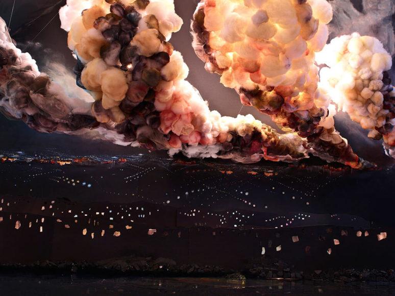 Shirley Wegner, Night Explosion (2013), C-Print, © Shirley Wegner, Courtesy Farideh Cadot Paris and the artist