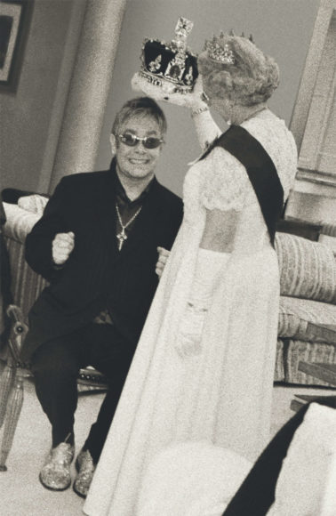 © Alison Jackson / Courtesy of Camera Work: The Queen places the Crown on Elton John