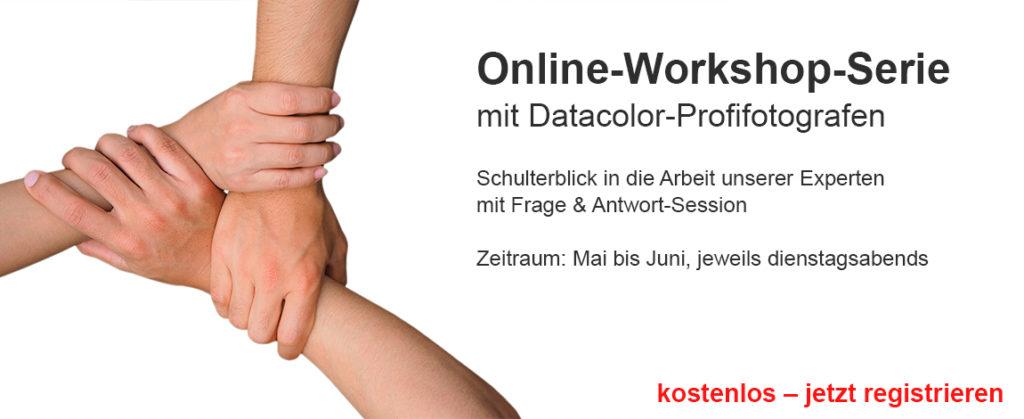 Kostenlose Online-Seminare bei Datacolor