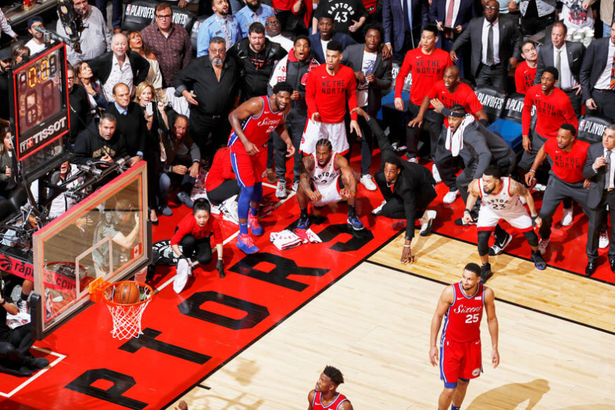 2020 World Press Photo Contest, Sports, Singles, 1st Prize. © Mark Blinchfor NBAE. Kawhi Leonard's Game 7 Buzzer Beater.