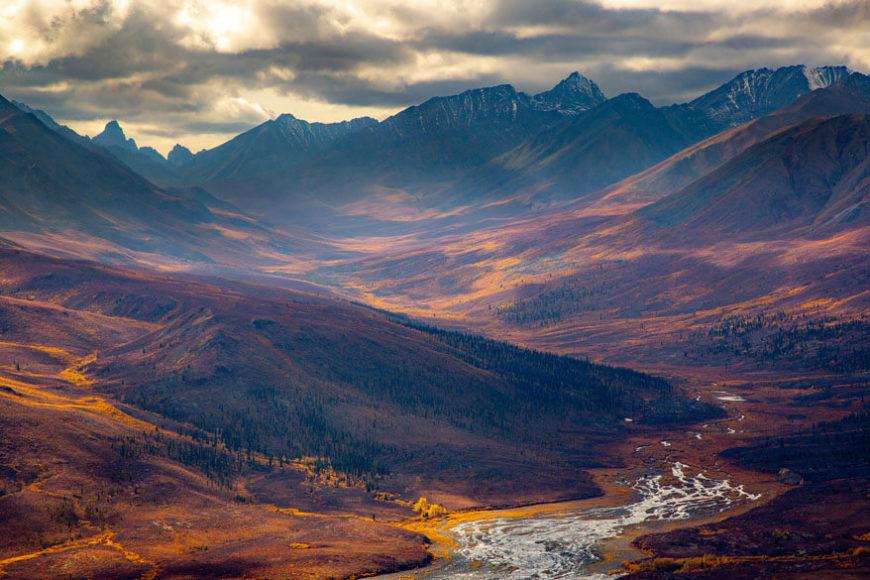 5. PLATZ   LANDSCHAFTEN  © Axel Gomeringer - Goldrausch im Yukon  Tombstone Territorial Park