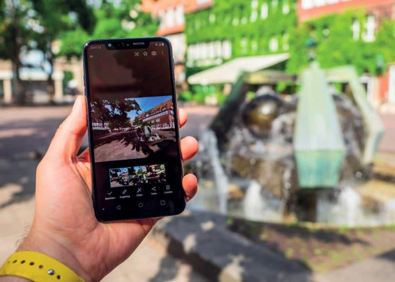 Das LG G8S bietet die Möglichkeit, mit nur einem Druck auf den Auslöser mehrere Aufnahmen mit den unterschiedlichen Kamera-Objektiv-Einheiten gleichzeitig aufzunehmen. So entgeht Ihnen kein noch so flüchtiger Moment.