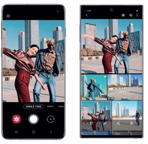 Auch Samsung bietet die sogenannte Single-Take-Funktion an.