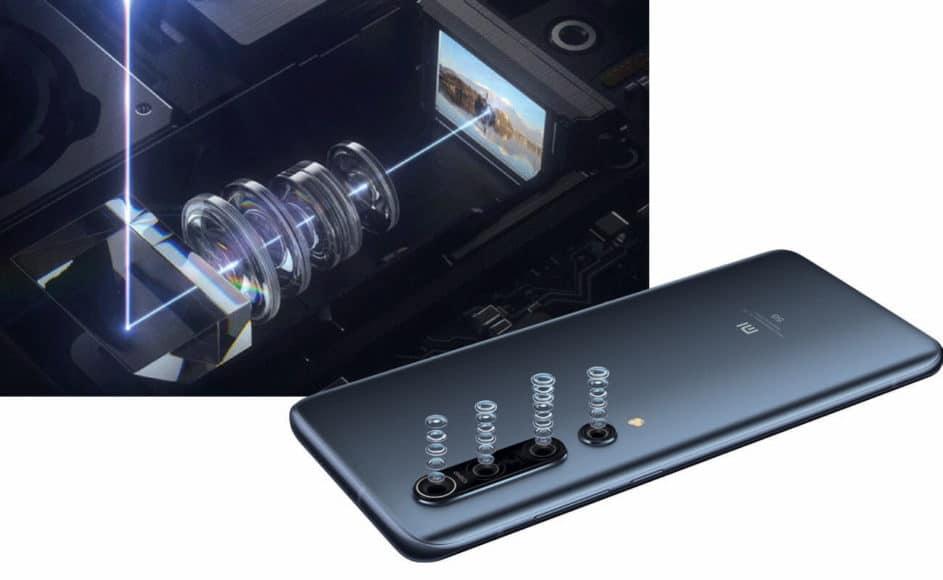 Unterschiedliche Wege, eine Telebrennweite zu realisieren: links in Teleskop- Bauweise beim Galaxy S20 Ultra, unten klassisch beim Xiaomi Mi 10 Pro.