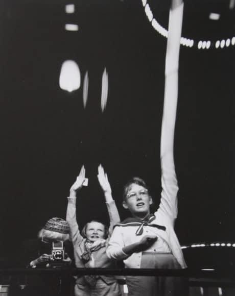 Self Portrait with Grandchildren in S.F Funhouse, 1955 © Imogen Cunningham Trust