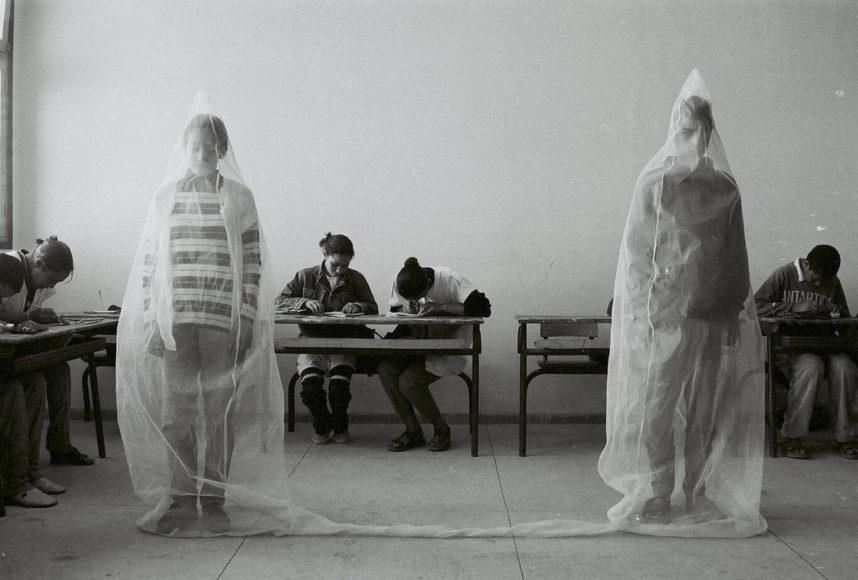 Katharina Maria Raab Galerie, Hicham Benohoud, untitled from the series LA SALLE DE CLASSE, 1994-2000 3