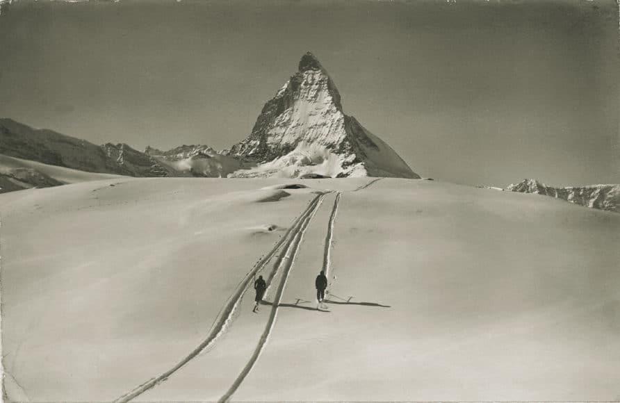Cervino in inverno Foto: Emanuel Gyger und Arnold Klopfenstein aus der Sammlung von Dr. Daniel Müller-Jentsch