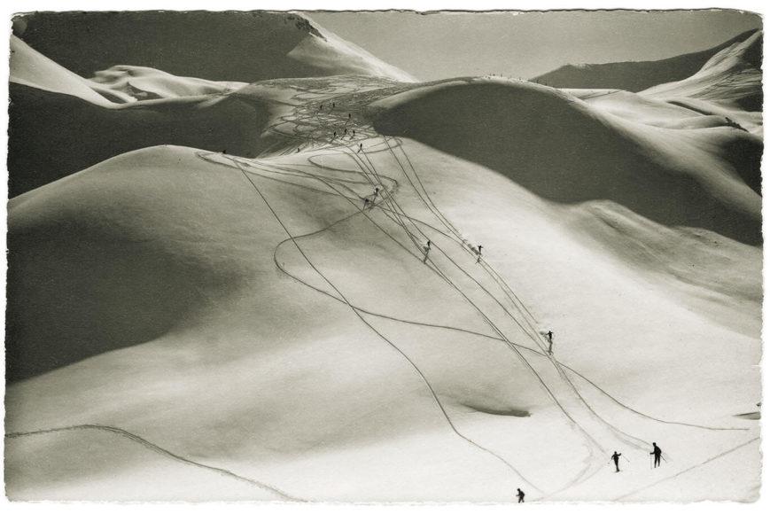 Adelboden. Skigelaende Regenbolshorn. Foto: Emanuel Gyger und Arnold Klopfenstein aus der Sammlung von Dr. Daniel Müller-Jentsch