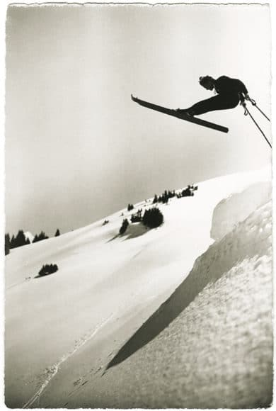 Drehsprung Foto: Emanuel Gyger und Arnold Klopfenstein aus der Sammlung von Dr. Daniel Müller-Jentsch