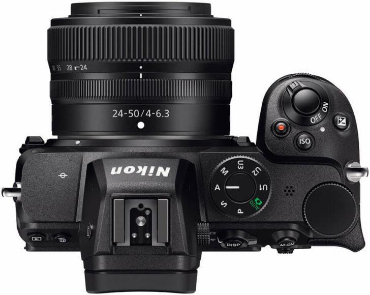 Die Z 5 wird mit dem neuen kompakten Set-Zoom Z 4-6,3/24- 50 mm ausgeliefert. Der Kamerastabilisator gleicht die geringe Lichtstärke aus.