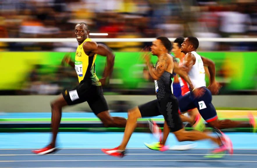 Bitte lächeln! (Usain Bolt, 100m, Olympia in Rio de Janeiro 2016) © Kai Pfaffenbach