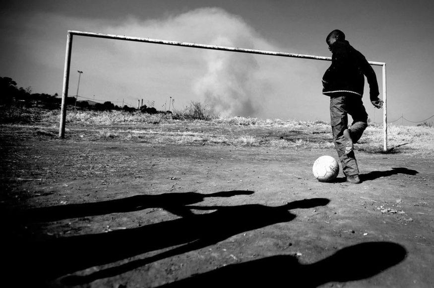 Traum vom Fußballhelden. © Kai Pfaffenbach
