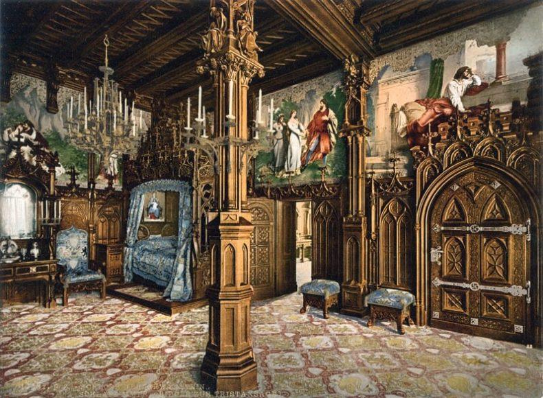Schloss Neuschwanstein, Schlafzimmer mit Bildern aus der Trist... (more) / © Collection Marc Walter und TASCHEN