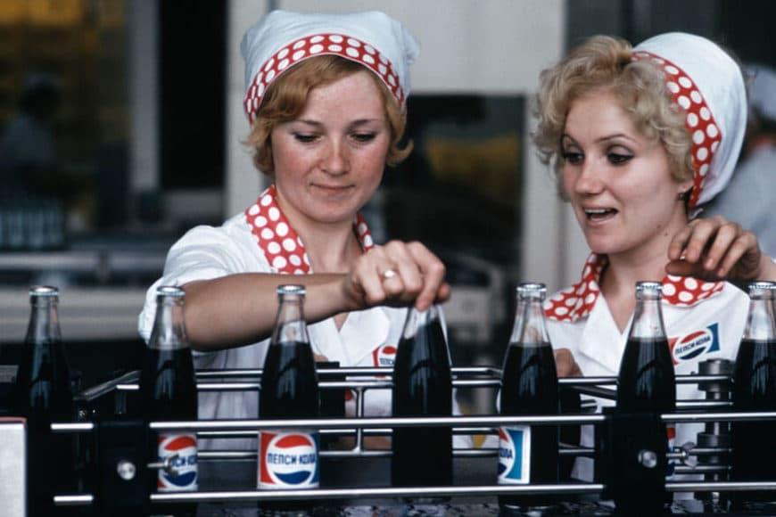 Burt Glinn, Opening of a Pepsi Cola Bottling Plant in Novorossiysk, USSR, 1974 © Burt Glinn/Magnum Photos