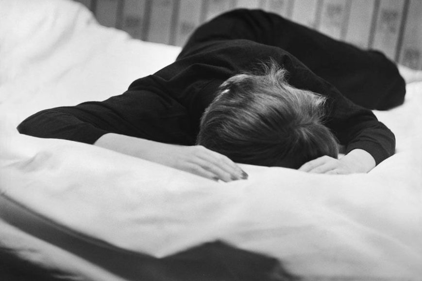 © René Groebli, Lying on the bed, from the series The Eye of Love, Paris, 1952.