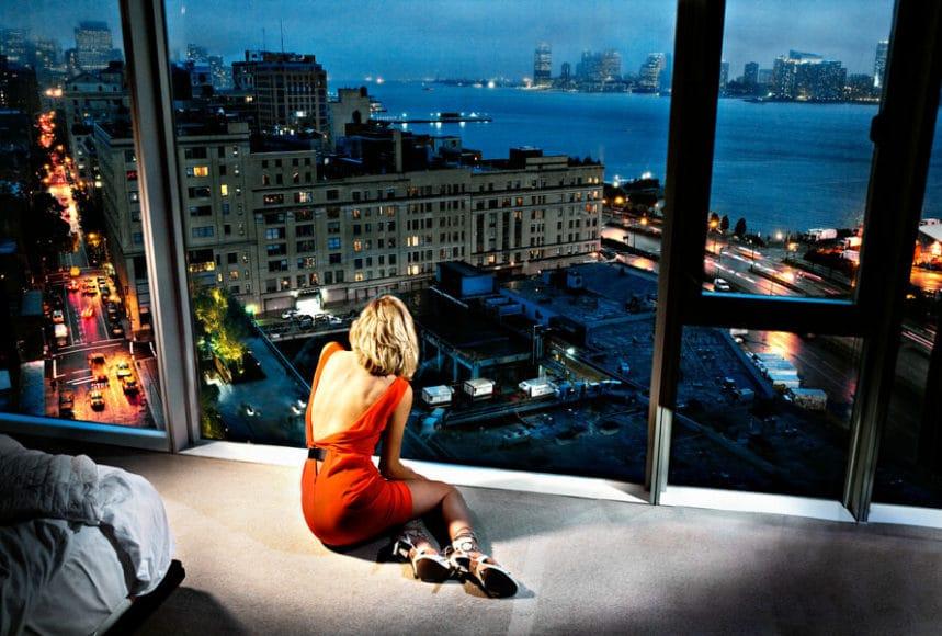 """David Drebin: """"Girl in Orange Dress"""", 2009 (copyright and courtesy David Drebin)."""