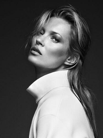 Kate Moss, White Coat, London 2013, © Bryan Adams.