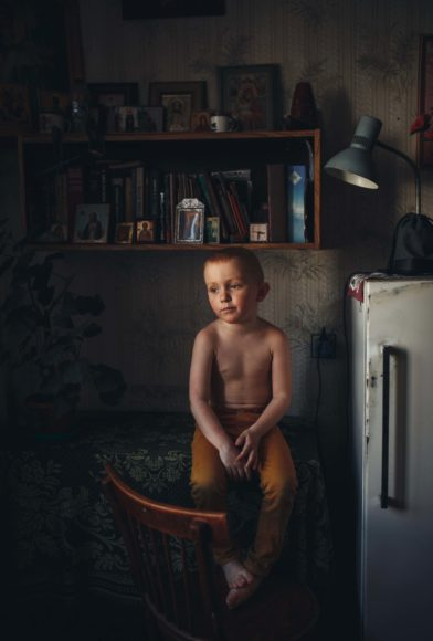Son. © Lyudmila Sabanina, Russian Federation, Category Winner, Open, Portraiture, 2021 Sony World Photography Awards.