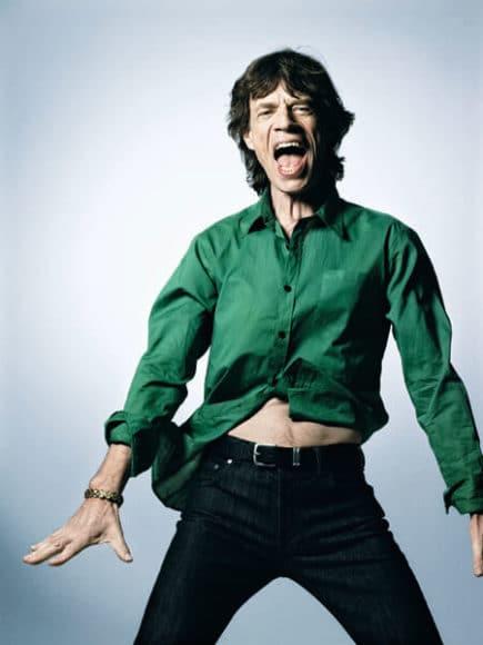 Sir Mick Jagger, Green Shirt, New York 2008, © Bryan Adams.