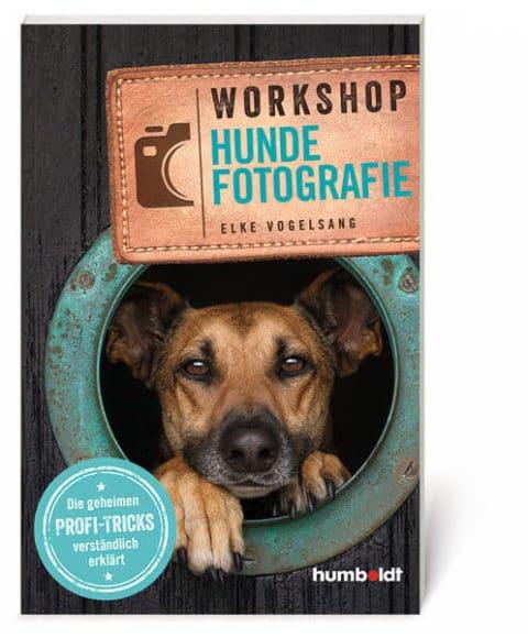 """Elke Vogelsang / """"Workshop Hundefotografie"""". Die geheimen Profi-Tricks verständlich erklärt / 264 Seiten / ca. 150 Abbildungen / 14,5 x 21,5 cm / Softcover / ISBN 978-3-8426-5525-6 / Verlag Humboldt / 28 Euro."""