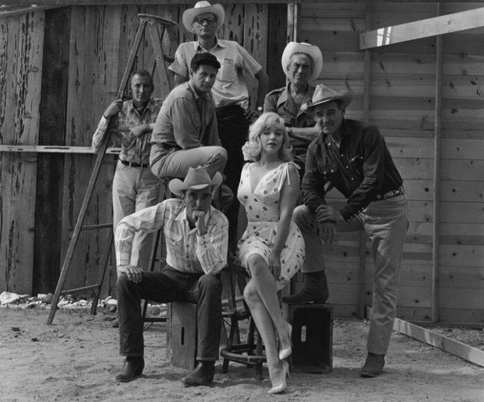 "© Elliott Erwitt, On The Set Of The ""The Misfits"", Reno, Nevada, 1960, Courtesy of CAMERA WORK Gallery."