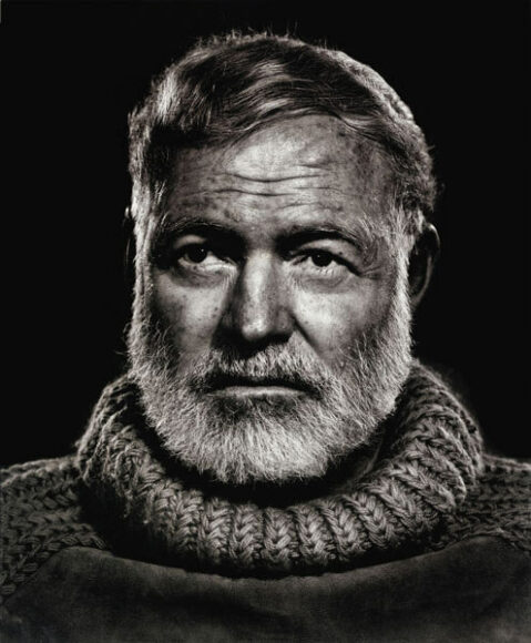 © Yousuf Karsh, Ernest Hemingway, 1957, Courtesy of CAMERA WORK Gallery.
