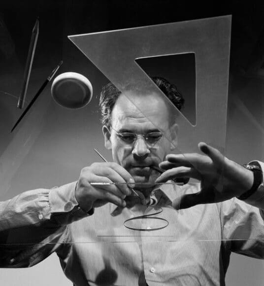 Ernst A. Heiniger, Selbstporträt, um 1950 © Fotostiftung Schweiz.