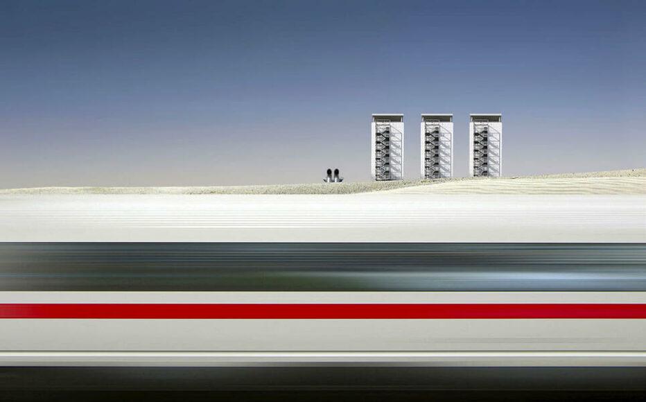CEWE Photo Award Kategoriegewinner Architektur & Technik: ICE Zug von Cor Boers.