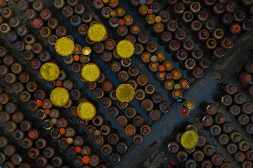 CEWE Photo Award Kategoriegewinner Luftaufnahmen: Herstellung von Sojasoße von Azim Khan Ronnie.