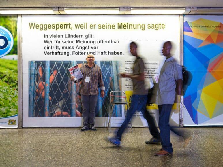 I sag gar nix, dös wird man doch noch sagen dürfen. Text: Karl Valentin. Foto: Herbert Becke.