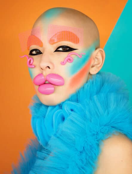 Eye Liner. Orange and Blue. Saved by the Bell series. © RANKIN. Courtesy of 29 ARTS IN PROGRESS gallery