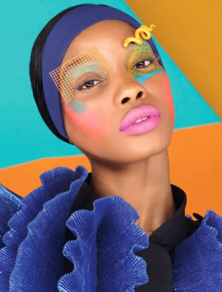 Pink Lips – Orange and Navy. Saved by the Bell series, 2018. © RANKIN. Courtesy of 29 ARTS IN PROGRESS gallery